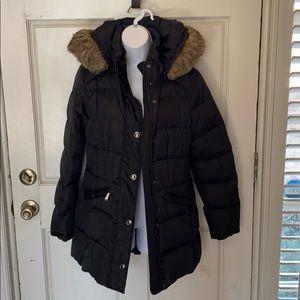 London Fog Winter Coat with Faux Fur Hood